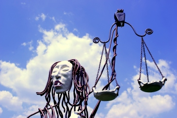 Blind Justice Sculpture