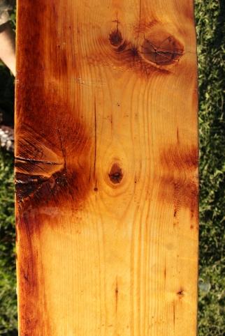 Industrial Long Table Wood Grain