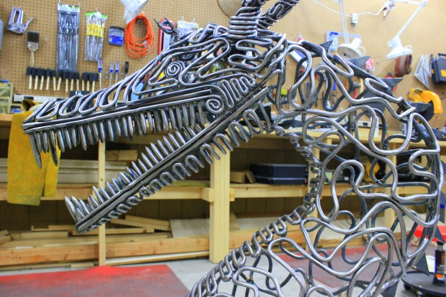 McCallister Sculpture - metal dragon