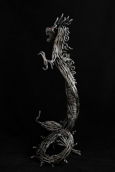 mccallister sculpture - metalwork - handmade sculptures - Japanese steel Dragon sculpture - ryan mcallister - scottsdale arizona arts