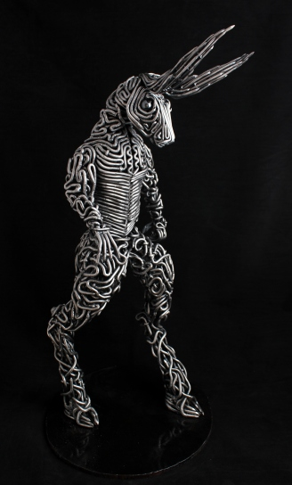 metal art - handmade sculptures - steel minotaur sculpture - mccallister sculpture - scottsdale art