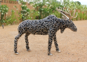 metalwork moose sculpture - mccallister sculpture - scottsdale artist - ryan mccallister
