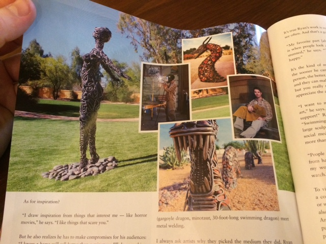 McCallister Sculpture Scottsdale metal artist - Images Arizona