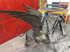 Griffin Eagle Lion Steel Sculpture - McCallister Sculpture