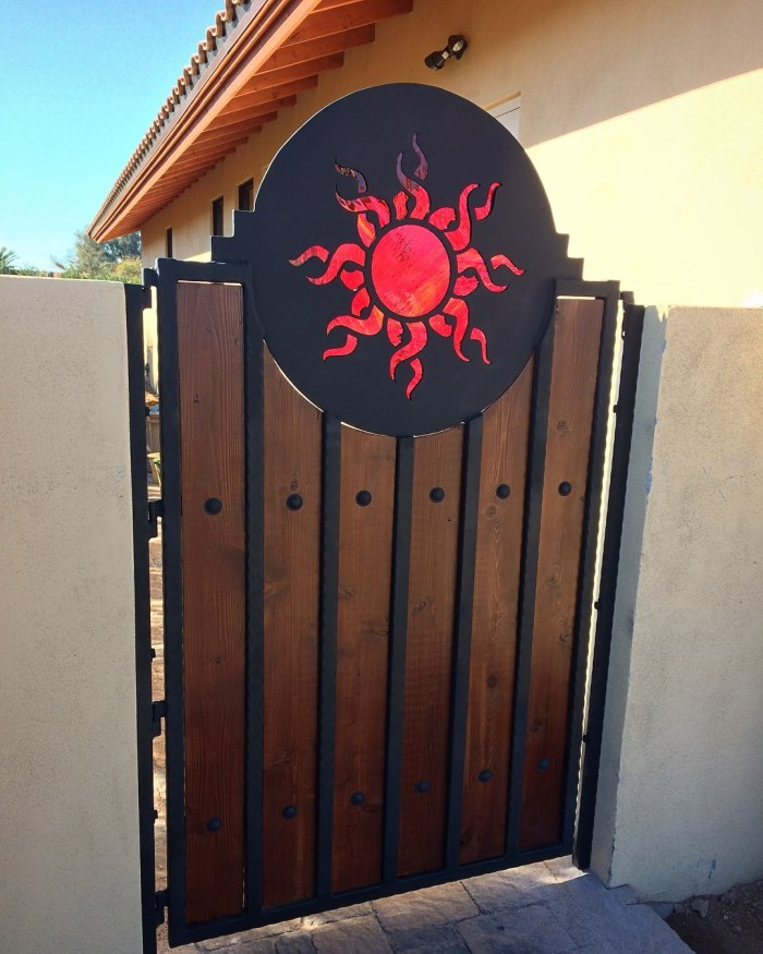 McCallister Sun themed Side gate