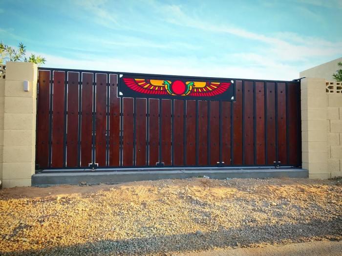 Roller Gate At Amardillo MetalWorks